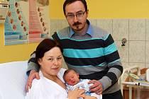 Poslední miminko narozené v chrudimské porodnici v roce 2014 je Štěpánek.