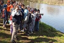 Ptačí neděle u rybníka Hluboký na Libáni.