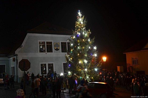 Vánoční strom vNasavrkách