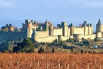 Pohled na pevnost Carcassonne.