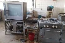 Následky požáru fritézy