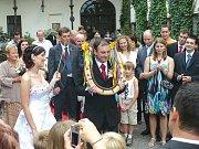 Stříbrné svatby v Zaječicích.