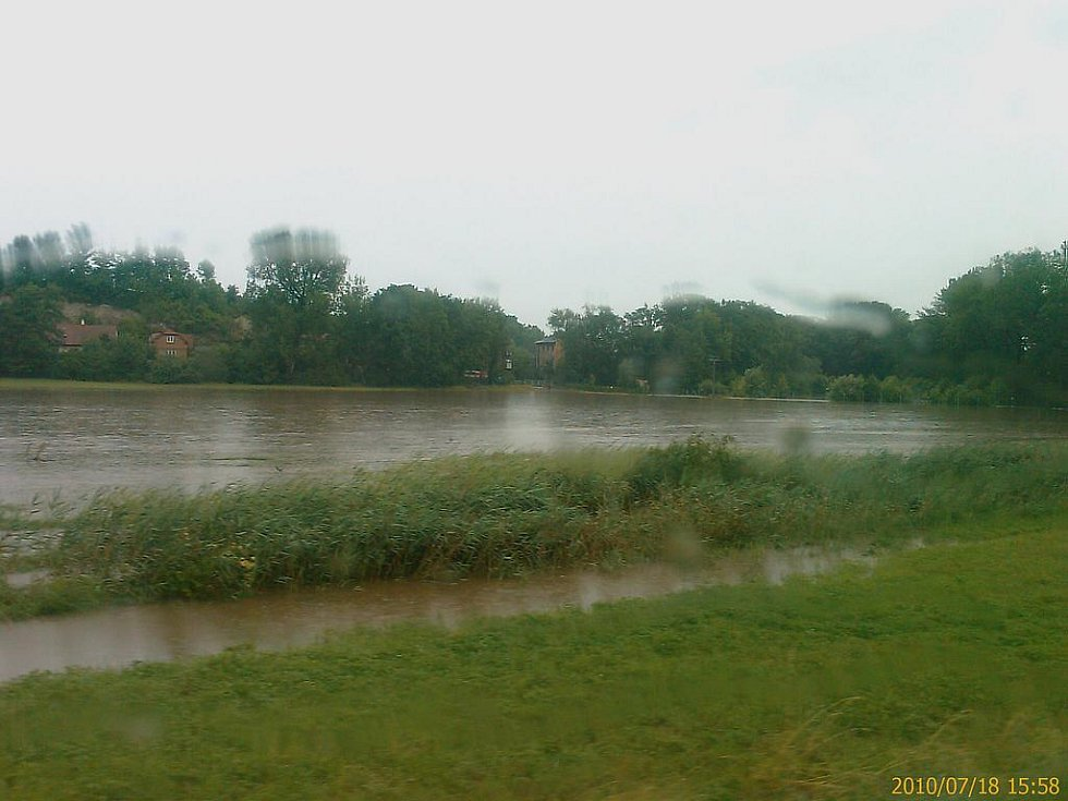 Záplavy v Zaječicích.