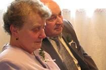 Manželé Marie a Jaroslav Štruncovi ze Sobětuch jsou spolu již padesát krásných let.