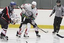 Domácí tým HC Hlinsko přehrál nováčka Lanškroun 7:2.