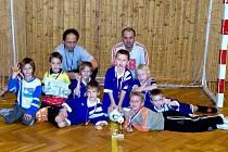 Družstvo přípravky pořádajícího SK Chrudim získalo na turnaji třetí místo.