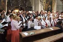 Slavoj na koncertě v polských Vambeřicích.