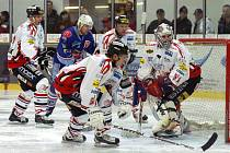 Z utkání I. hokejové ligy HC Chrudim - Chomutov 4:3 po SN.