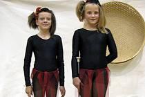 Duo mažoretek Tereza Lebdušková a Nela Daruová obsadilo v dětské kategorii vynikající druhé místo.