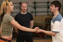 Taneční pár Lucie Kameníková a Richard Boguaj