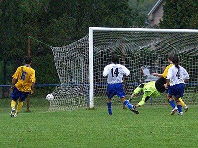 Druhý gól AFK B v síti Třemošnice.