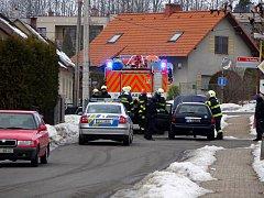 Požár auta v Prachovicích