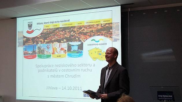 Roman Málek vystoupil na konferenci v Jihlavě.