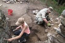 Archeologický výzkum na zřícenině středověkého hradu Rabštejn na Chrudimsku