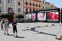 Kontroverzní putovní výstava občanského sdružení Stop genocidě naturalisticky srovnává potraty s děním ve vyhlazovacích táborech.