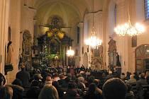 Vánoční koncert v děkanském kostele v Hlinsku.