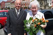 Manželé Adéla a Jaroslav Havrdovi  oslavili diamantovou svatbu.
