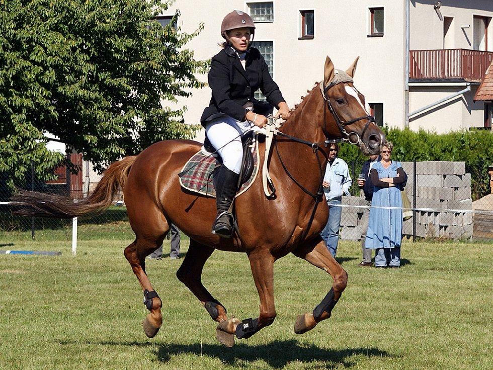 Na Školním statku ve Vestci se opět závodilo v parkurovém skákání koní.