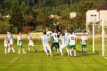 Z fotbalového utkání krajského přeboru Třemošnice - Hlinsko  1:1.