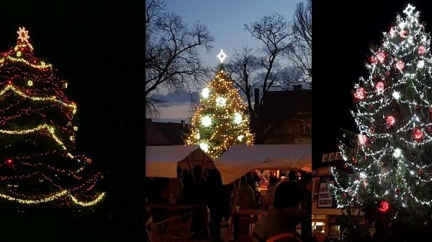 O prvním adventním víkendu se rozzářily vánoční stromy napříč Chrudimskem