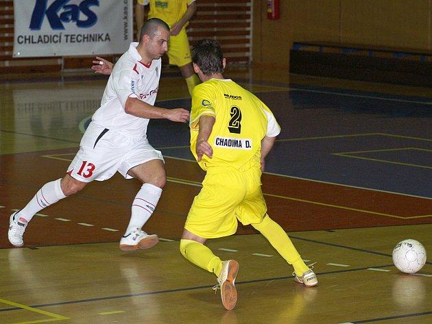 Z futsalového utkání Era-Chrudim - Nejzbach Vysoké Mýto.