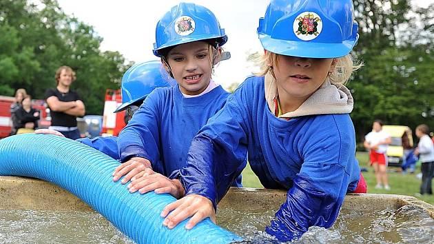 Ligová soutěž hasičů pokračovala v Heřmanově Městci.