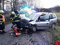 Při havárii byli zraněni čtyři lidé