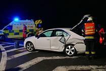 Nedělní nehoda na křižovatce silnice I/17.