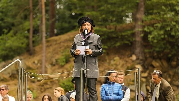 Z pietní akce v Ležákách, 24.6.2018