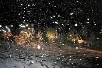 Prosečšstí dobrovolní hasiči likvidovali spadlý strom mezi Prosečí a Borovou.