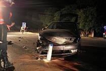 Hasiči zasahovali u nehody, k níž došlo na křižovatce pod Nasavrky poblíž odbočky na Ochoz.