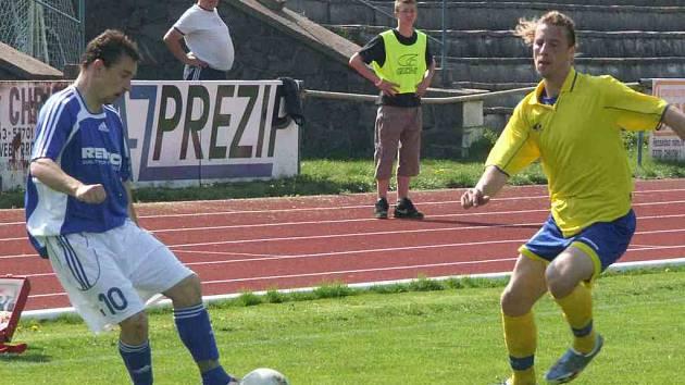 Z utkání AFK Chrudim - Trutnov.