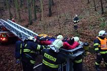 Taktické cvičení hasičů v Kovolisu Hedvikov