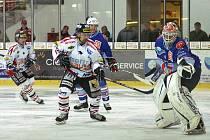 HC Chrudim porazil Chomutov  v 25. kole I. hokejové ligy 4:3 až po samostatných nájezdech