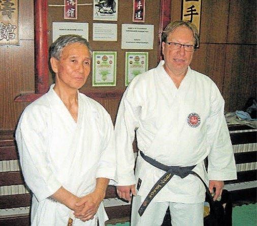Shihan Takeji Ogawa s Miloslavem Zdražilem.