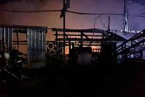 Požár pily v Morašicích