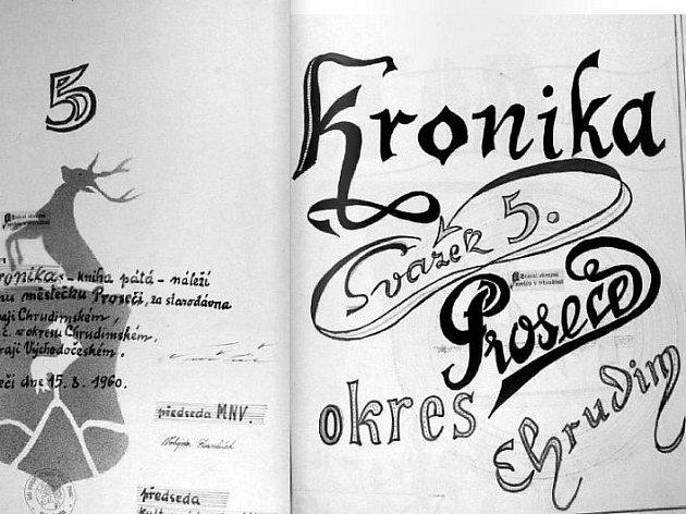 Úvodní strany kroniky z roku 1960.