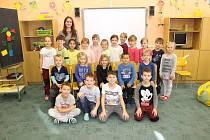 Prvňáci z 1. A Základní školy Smetanova ve Skutči, které vede paní učitelka Gabriela Skalová.