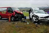 Dopravní nehoda u Skutče.