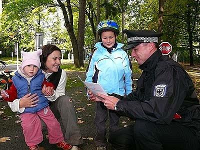 Dopravně bezpečnostní akce byla určena hlavně dětem.