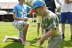 Dětský den ve Rváčově byl plný her a zábavy hlavně pro ty nejmenší.