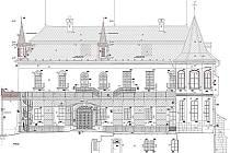 Takto má vypadat slatiňanský zámek po zamýšlené opravě. V nákresu na první pohled zaujme návrat některých dříve odstraněných částí částí exteriéru.