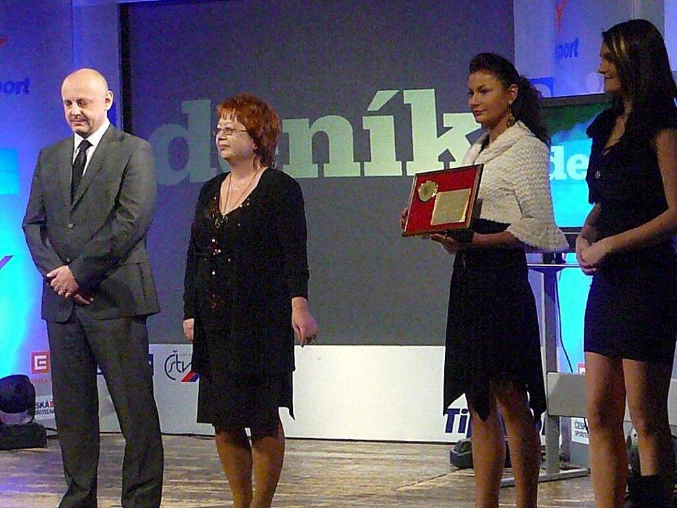 Z galavečeru předávání cen Nejúspěšnějším sportovcům Chrudimska za rok 2009.