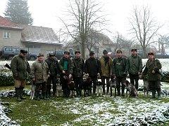 K poslednímu letošnímu vyrazili i myslivci v Ronově nad Doubravou.
