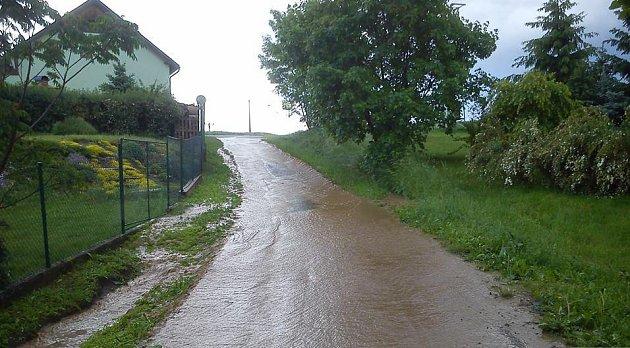Velká voda ve Zbyhněvicích