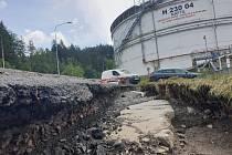 Odstraňování havárie ve skladu SSHR u Heřmanova Městce