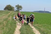 TRadiční pochod Krajem malíčřů Vysočiny doplnil pohádkový les pro děti.