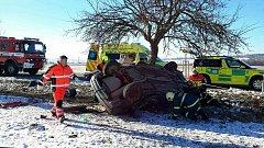 Silvestrovská dopravní nehoda u Hlinska