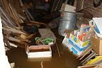 Zaplavené silnice a domy v Řestokách.