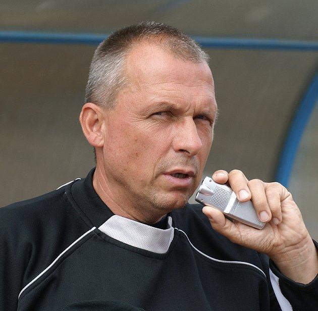 Hradecký trenér Ladislav Brož.